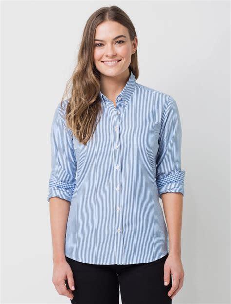 women s women s dixon stripe shirt blue white