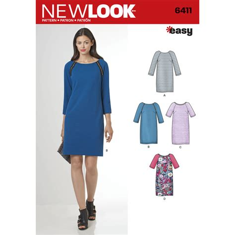 dress pattern websites pattern for misses easy to sew shift dress simplicity