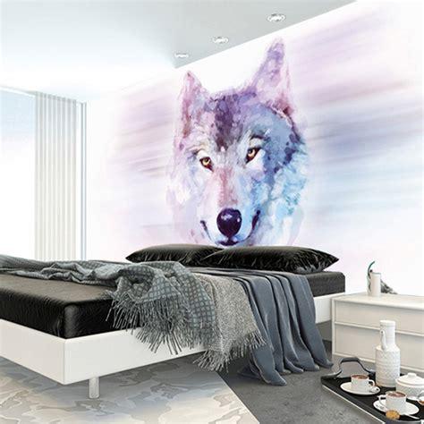 animal bedroom wallpaper מוצר custom 3d stereo large mural wolf totem animal