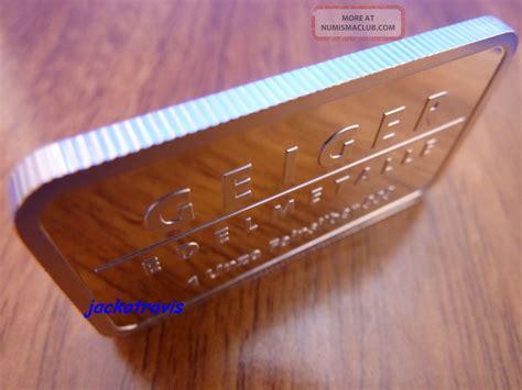 1 troy oz german silver bullion buffalo bar german geiger 1 oz silver bullion bar castle guldengossa
