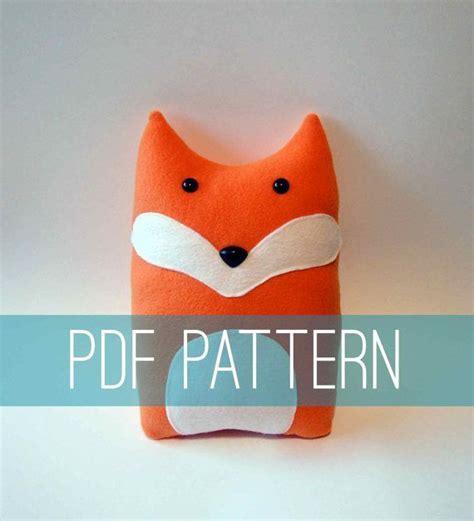 Fox Bahan Craft Diy diy fox pattern woodland pillow plush fleece fabric animal plushie do it yourself craft for