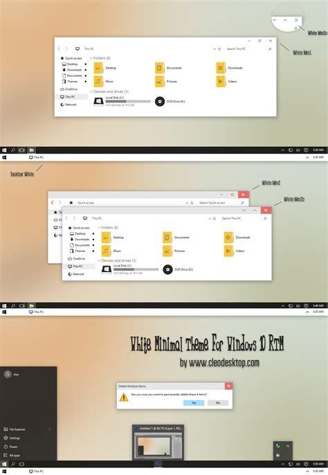 white theme for windows 10 white minimal theme for windows 10 rtm by cleodesktop on