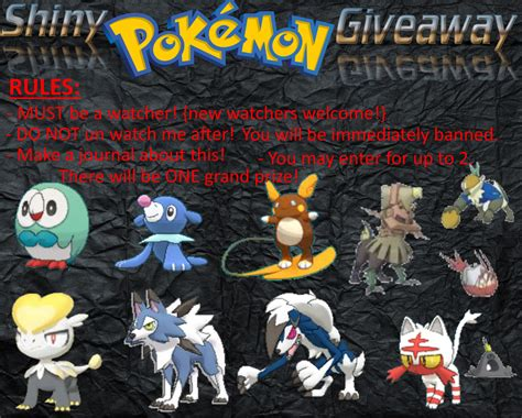 Free Shiny Pokemon Giveaway - shiny pokemon giveaway closed see rules by disappointed dodo on deviantart