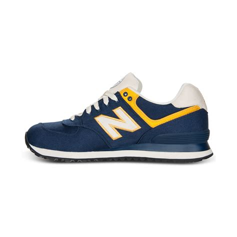 new balance sneakers 574 lyst new balance 574 sneakers in blue for