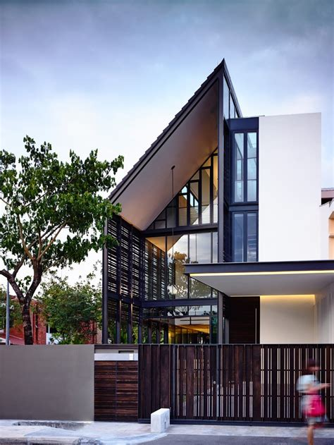 architects home plans a corner terrace house for a family in singapore contemporist