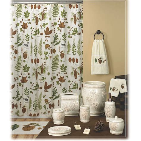 shower curtain and accessories northwoods shower curtain bath accessories by creative