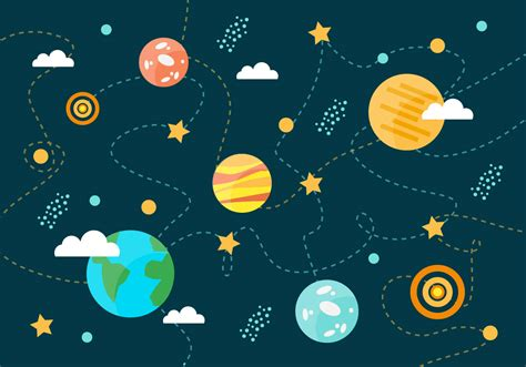 space pattern background free free collection of space planets vector background