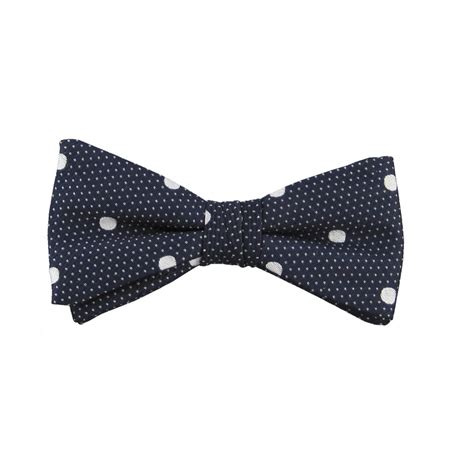 Ready Stock New Arrival Eliza Polcadot Luxury navy white polka dot silkready bow towler taggs of