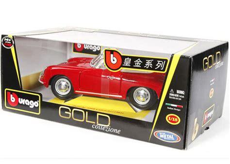 Diecast Bburago 118 Porsche 356b Cabriolet Merah blue 1 18 bburago diecast 1961 porsche 356b cabriolet