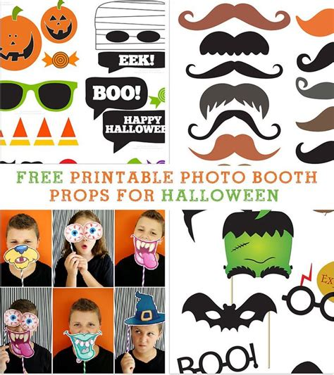 halloween photo booth props printable pdf 25 best ideas about halloween photos on pinterest
