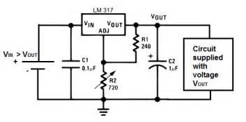 voltage regulator lm317 circuit capacitor question
