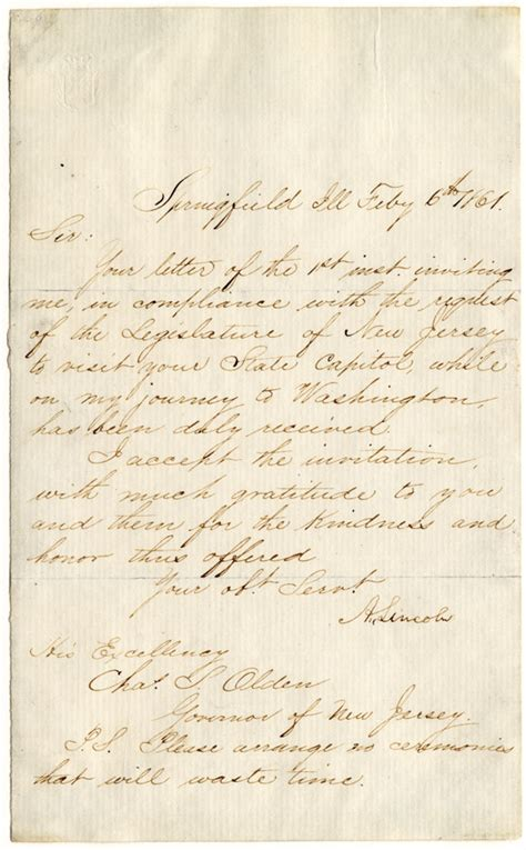 Late Endorsement Letter Lincoln Letter Ideas Abraham Lincoln Letter Mystery U0027almost Certainly U0027 Solved Experts