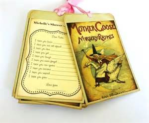 wish tags for baby in goose storybook theme for
