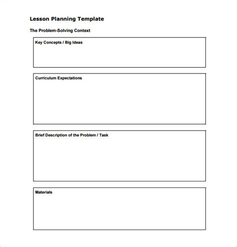 generic lesson plan template plan book template gallery exle resume