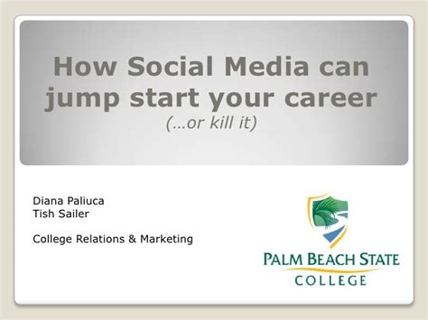 How Social Media Can Help Or Hurt Your Search How Social Media Can Jump Start Your Career