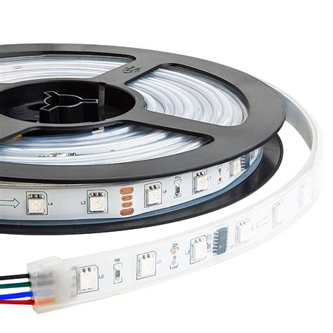 waterproof color chasing led light strips with multi color leds 16 40ft 5m outdoor led
