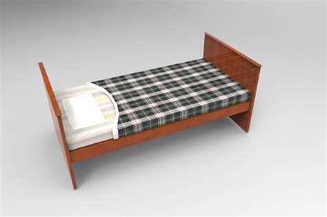 old bed 3d model old bed vr ar low poly obj 3ds fbx tga