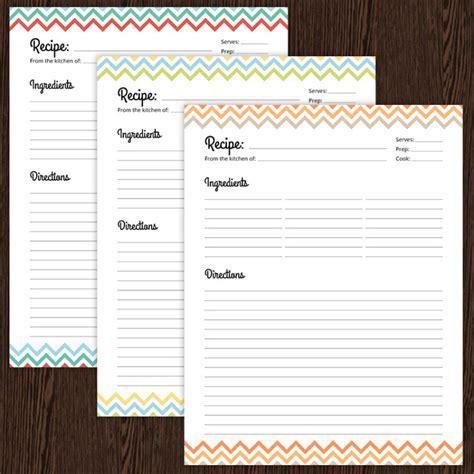 typable recipe card template editable recipe card template free recipe card template