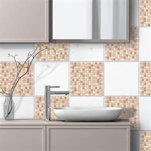 Wall Tiles Stickers piastrella 3d mosaico rosa adesivi murali wall stickers