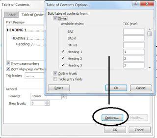 cara membuat daftar isi angka romawi tutorial ms word cara membuat daftar isi berbeda file