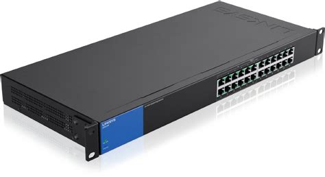 Linksys Switch Lgs124p Ap 24 Port Rackmount Gigabit Poe Switch linksys lgs124p 24 port business unmanaged gigabit switch with 12 poe ports