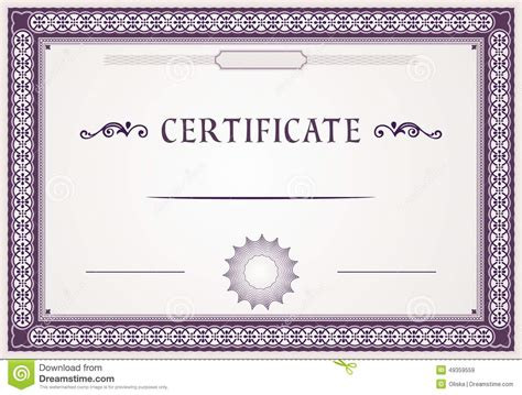 sle stock certificate template certificate border design templates 28 images