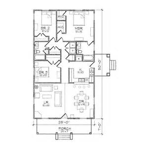 Narrow Lot House Plans Houston by Hadley Iii Bungalow Floor Plan Tightlines Designs