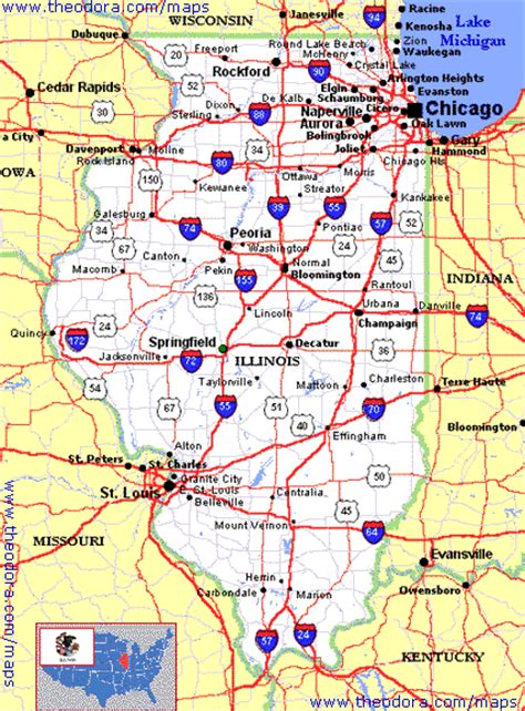 map illinois maps of illinois illinoian flags maps economy geography climate resources