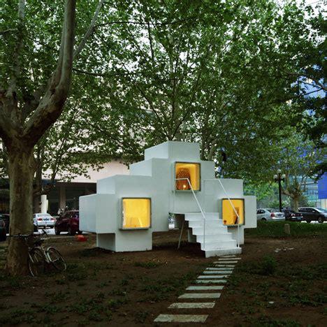 micro house by studio liu lubin installed in beijing park 13 unusual designs for mobile homes and hideaways