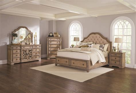4 piece bedroom set 4 piece ilana storage bedroom set antique linen finish