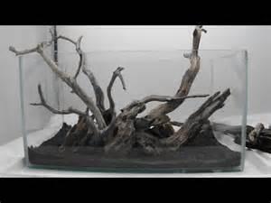 Aquascape Wood Aquascape Using Manzy Wood And Dragon Rock Youtube