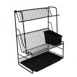 delfinware 3 tier plate rack black delfinware black range