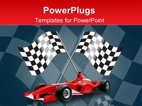 powerpoint templates free download racing powerpoint template racing flags in background with red