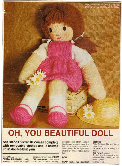 knitted rag doll patterns vintage beautiful rag doll complete with clothes by
