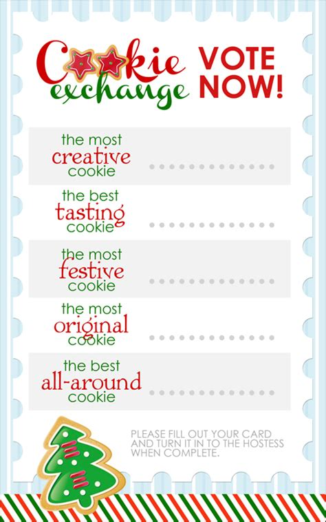 cookie exchange recipe card template cookie exchange free printables how to nest for