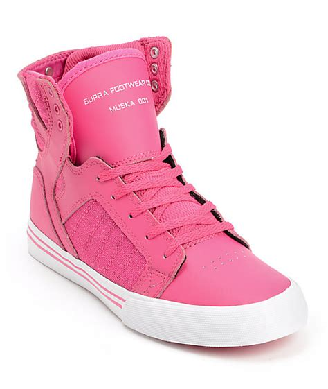 supra skytop pink leather skate shoe at zumiez pdp