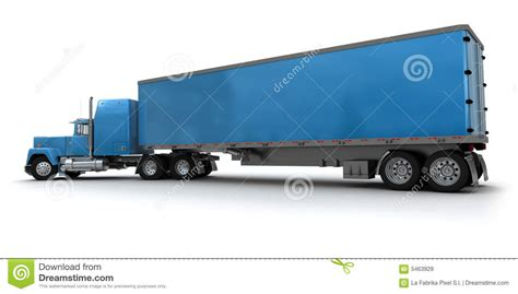 blue trailer big blue trailer truck royalty free stock images image