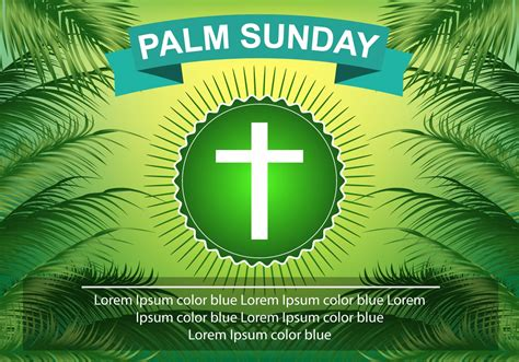 template palm sunday green palm leaf download free