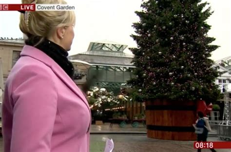 origin of the christmas tree bbc carol kirkwood sparks meltdown with epic tree blunder has she been tv