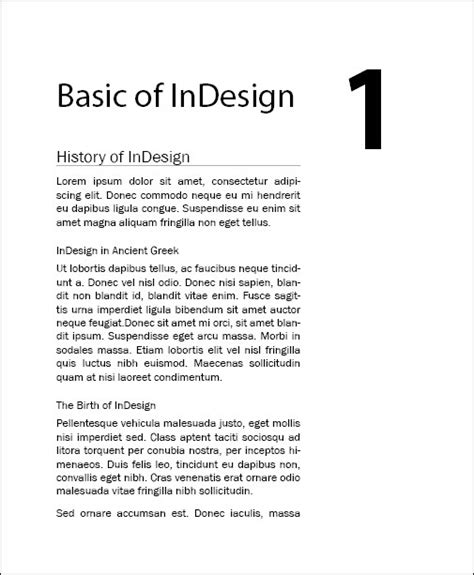 book layout chapter headings writing effectively in indesign using book
