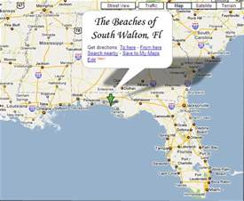 directions map the beaches of south walton fl the