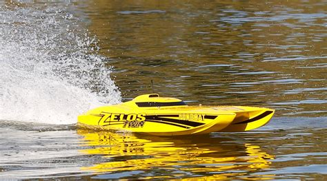 best rc gas boats pro boat zelos 36 twin catamaran brushless rtr rc boat