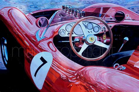 ferrari art the art of marijan pecar in 2 motorsports