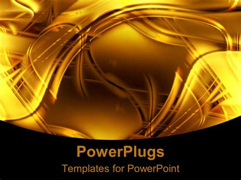 powerpoint themes gold powerpoint template abstract swirling background with