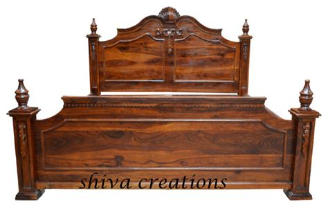 indian bed carved sheesham wood bed india asian beds other