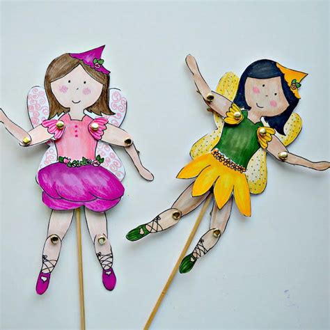 How To Make Paper Fairies - fab free printable paper dolls allfreepapercrafts