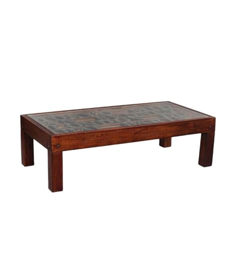 Ethnic Coffee Tables Ethnic Handicrafts Coffee Table Brown Maghony Finish Buy At Best Price In India On