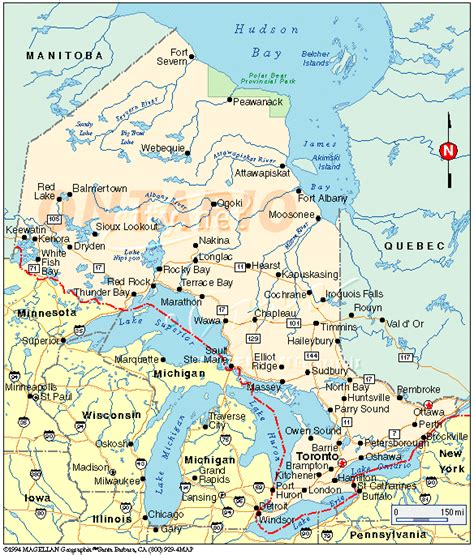 map of ontario and canada ontario canada the land of a thousand lakes
