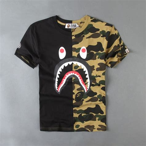 Kaos T Shirt Bape Shark Wgm New dion wiley outfitted in a bathing ape bape shark camo