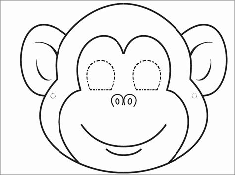 jungle animal mask templates printable jungle and safari animal masks for